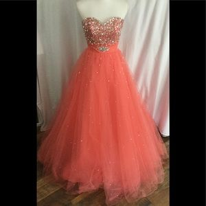 MORI LEE  Melon color  formal